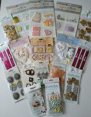Craft Room Clear Out - Bundle Of Cardmaking Items - Stickers, Toppers Etc - New • 2.23£