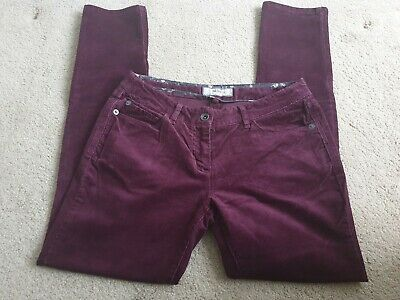 Fatface Size 10 30 Leg Straight Fit Burgundy Ladies Cord Jeans • 1.10£