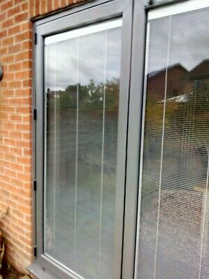 Two Double Glazed Units With Integral Silver Fine Blinds • 100£