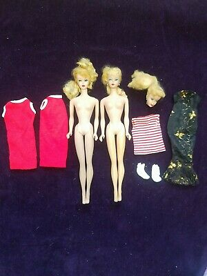 $ CDN67.47 • Buy Lot Of Vintage Barbies, Clothes, Head