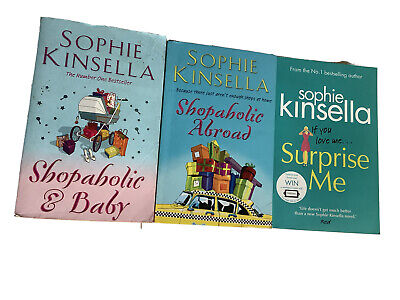 Sophie Kinsella Books Shopaholic And Baby, Shopaholic Abroad, Surprise Me • 5.99£
