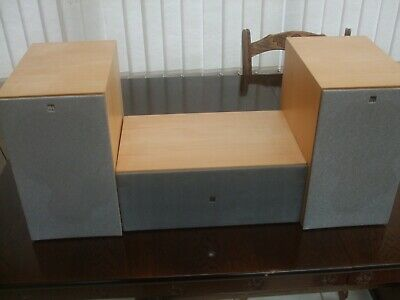 Kef Coda 70 Pair Of HiFi Speakers And Coda 80 Centre Speaker, Perfect Condition • 40£