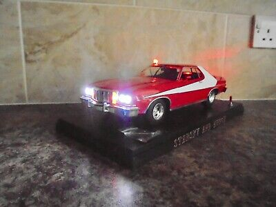 Greenlight 1:18 Starsky & Hutch Ford Torino With Working Lights In Display Case • 79.99£