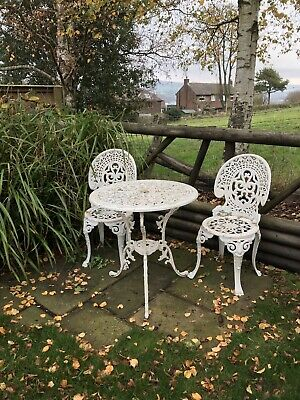 Vintage Cast Aluminium Garden Table And Chairs • 149£