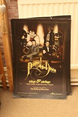 Panic At The Disco Vices & Virtues Promo Stiff Card Poster • 5£