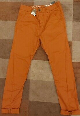 Next Boys Burnt Orange Skinny Twist Chino • 8£