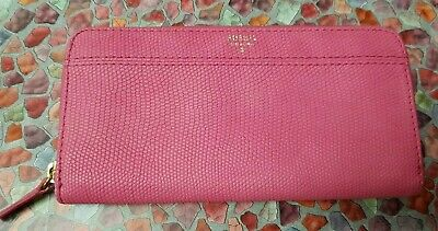 Fossil Pink Leather Purse Vgc  • 3£