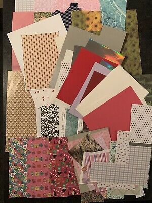 Bundle Of Patterened Papers For Craft And Card Making • 2.70£