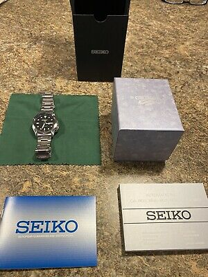 $ CDN206.31 • Buy Seiko 5 Sports Black Dial Silver Steel Bracelet Men's Watch SRPE55K1