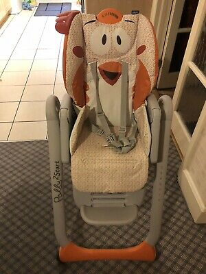 Chicco Polly Easy 4 Wheel Highchair - Chick • 10£