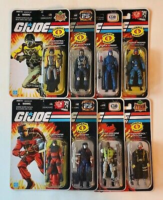 $ CDN129.69 • Buy Eight Gi Joe 25th White And Silver Logo 3 3/4 Action Figure Package Lot