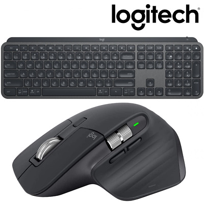AU339.95 • Buy NEW Logitech MX Keys + Master 3 Wireless Illuminated Keyboard Mouse Combo Bundle