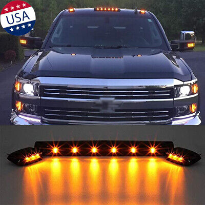 $59.99 • Buy 3Pcs Amber LED Cab Roof Marker Top Lights For Chevrolet Silverado 1500 2500 3500