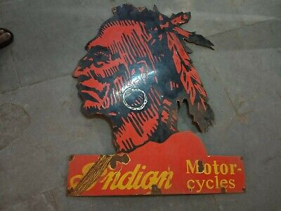 $ CDN66.09 • Buy Porcelain Indian Motorcycles Enamel Sign Size 30  X 36  Inches