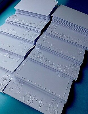Embossed Blank Cards And Envelopes Craft Card Making Bundle ClearOut Job Lot • 10.75£