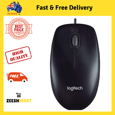 AU12.80 • Buy Logitech Corded Mouse M90 Black Wired USB Optical Tracking   NEW   FREE SHIPPING