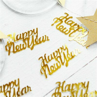 Happy New Year Gold Foil Confetti Silver Blue Snowflakes Party Table Decoration • 2.79£