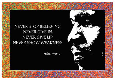 £3.99 • Buy Boxing Mike Tyson Inspirational Motivational Print Poster Wall Art Picture A4 +
