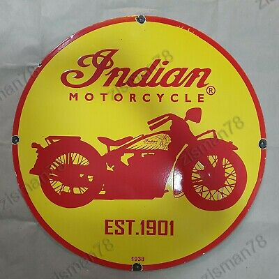 $ CDN161.99 • Buy Indian Motorcycles Vintage Porcelain Sign 30 Inches Round