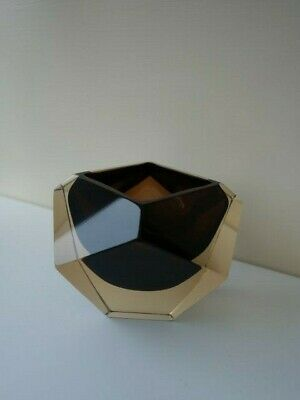 1970's V Nason & Co Murano Faceted Geode Glass Bowl, With Label • 10£