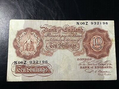 Ten Shilling Note - Signed By P S Beale • 11£