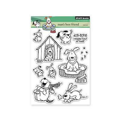Penny Black Clear Stamps - Man's Best Friend 30-120 • 17.99£