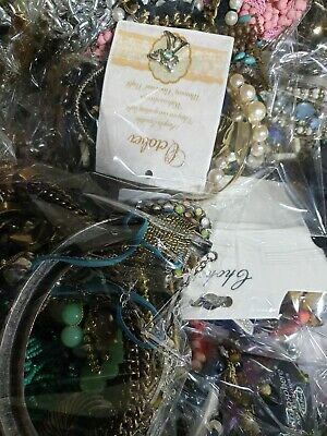 Joblot Mixed Costume Jewellery 1kg Kilo Bundle Resell All Different Craft Wear,  • 6.99£