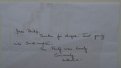 Titanic Survivor Millvina Dean Hand Signed Autograph Letter Watermark Stationery • 65£