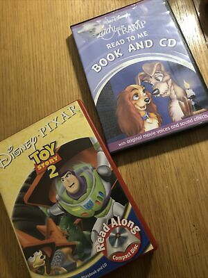 DISNEY, Storybook & Audio Disc For Read Along, Toy Story 2 & Lady And The Tramp • 3£