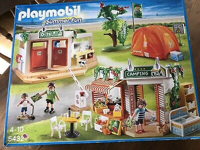 Playmobil Bundle - Boxed Campsite And Boxed Camper Van. Shower Pumps Real Water! • 6.30£