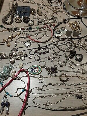 $ CDN454.42 • Buy 400g Sterling Silver Jewelry Lot. Wear, Good Pre Owned Condition,