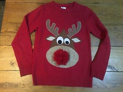 Next Boys Christmas Rudolph Jumper Age 12, Height 152 Cm • 6£