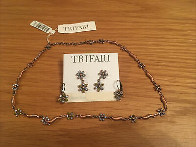 Trifari Necklace And Earring Set • 25£