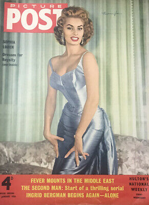 Sophia Loren - Picture Post 21 St January 1956 - EX • 3.38£