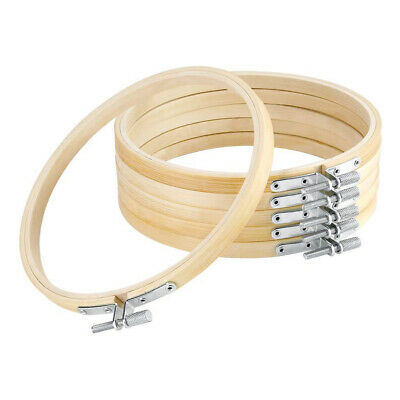 6X 13-36cm Wooden Handy Cross Stitch Machine Embroidery Hoop Ring Bamboo Frames • 12.67£