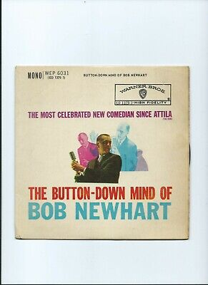 BOB NEWHART PS EP Button Down Mind Of Warner Bros 1960 • 2.99£