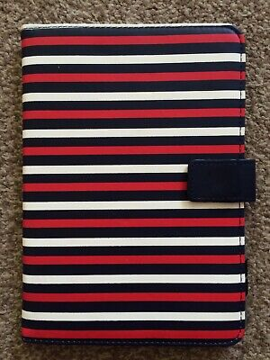 Tablets IPad EReader Case Faux Leather Magnetic Closure Blue, Red & White Stripe • 4£