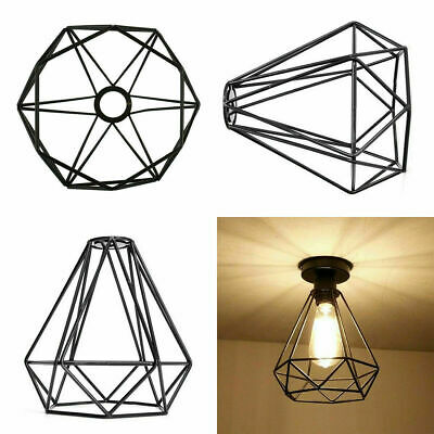 Industrial Geometric Light Shade Wire Frame Ceiling Pendant Lightshade Lampshade • 9.89£