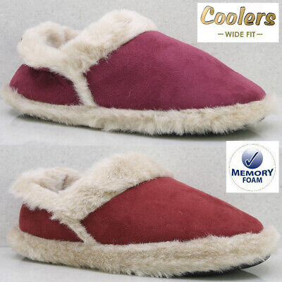 £8.95 • Buy Ladies Slippers Women Wide Fit Memory Foam Fur Thermal Ankle Boots Warm Shoes
