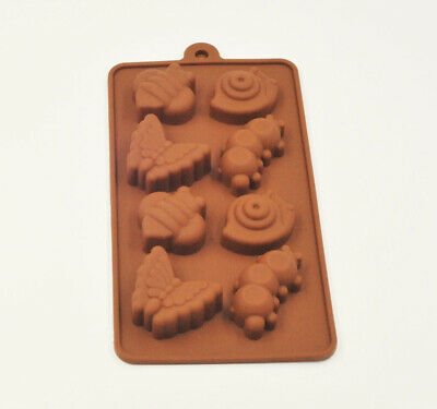 Chocolate Forest Bugs Silicone Fondant Mould Cake Decorating Baking Mold Tool • 2.99£