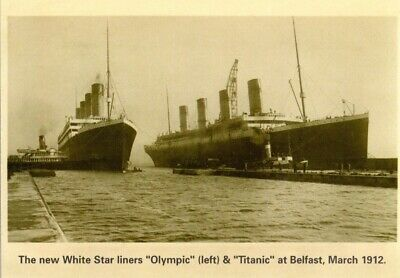 White Star Liners R.M.S. Titanic & Olympic Belfast March 1912. Nice Card, Ship • 3.99£