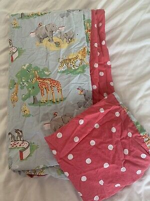Cath Kidston Single Duvet Cover And Pillow Case - Kids Zoo Themed • 21£