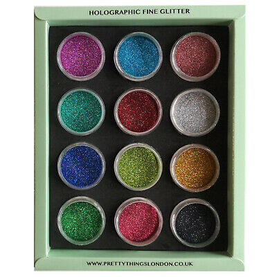 Fine Holographic Glitter Set Craft Resin Nail Art Glass CardMaking Scrapbooking  • 7.99£