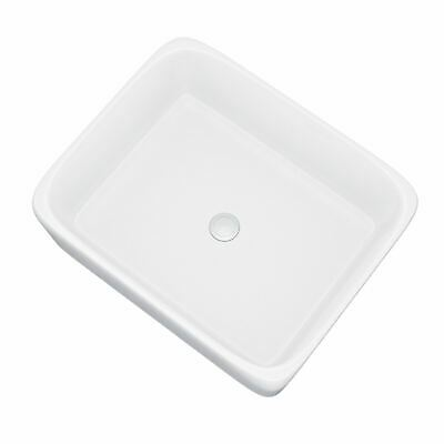 £34.99 • Buy 485 Mm Rounded Counter Top Basin Rectangle Cloakroom Bathroom Sink   Lomond