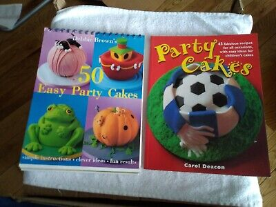 Debbie Brown Party Cakes And Carol Deacon Party Cakes Books • 2.50£