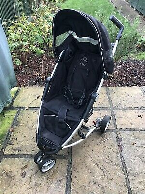 Petite Star Zia + Lightweight Pushchair - Jet Black - 3 Wheeler  • 15£