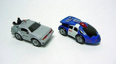 1980s Back To The Future DeLorean And Police Micro Cars, Like Micro Machines • 7.50£