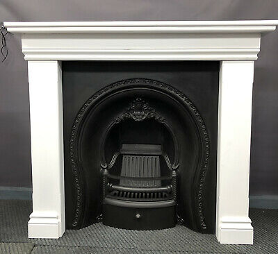Victorian Cast Iron Fireplace And  New Surround DELIVERY Free Or £35 Most  UK • 475£