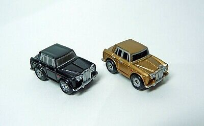 Micro Machines 1987 Rolls Royce Silver Shadow Cars X2, Black And Gold • 11.50£