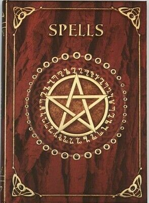 Nemesis Now Embossed RED SPELL BOOK Shadows Pentagram Pagan Wicca Witch Journal • 7.95£